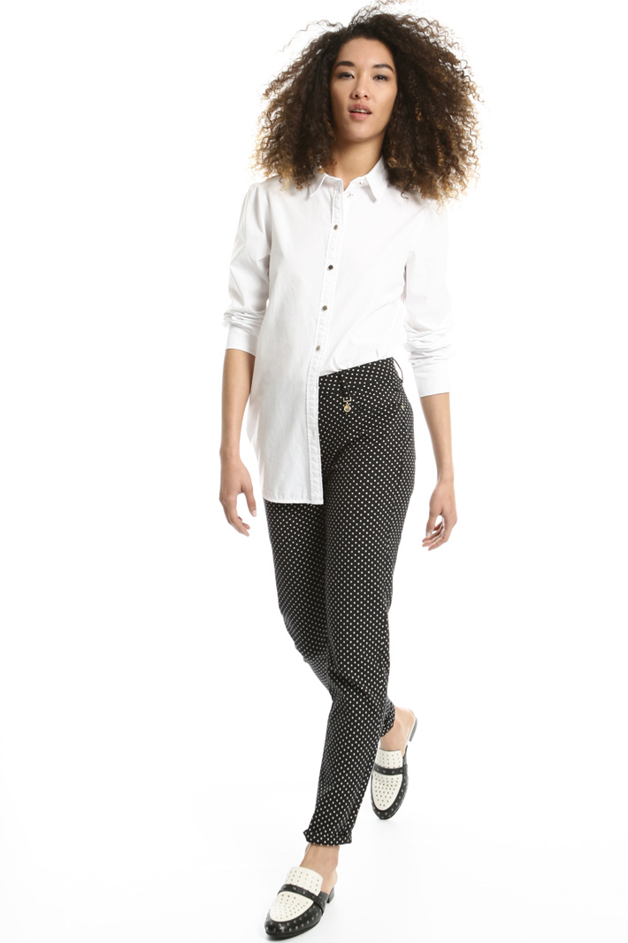 Jacquard cigarette trousers Intrend