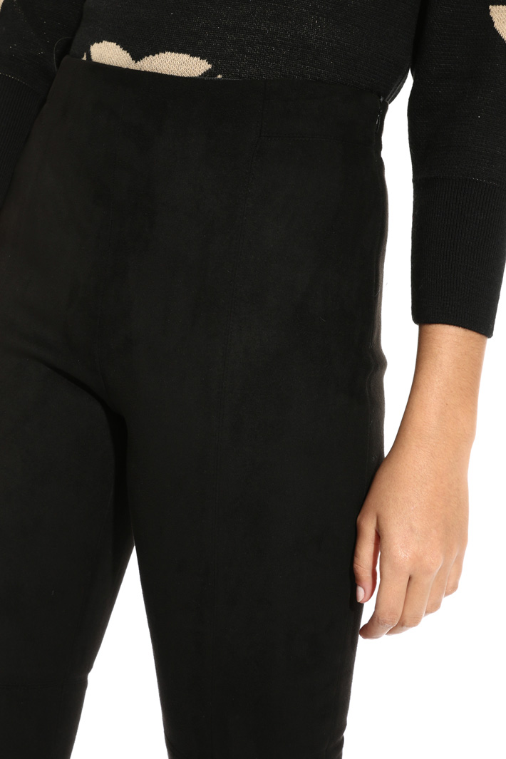 Suede-effect trousers Intrend