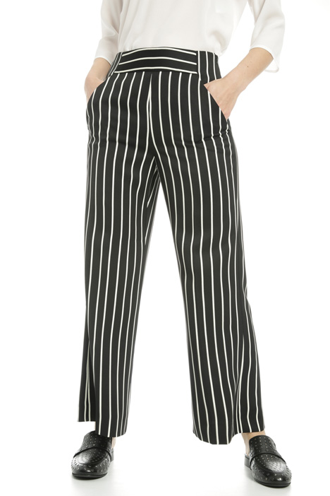 Cropped striped trousers  Intrend