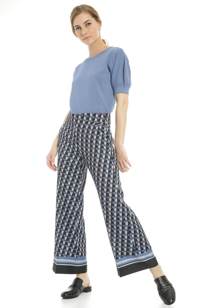 Geometric pattern trousers  Intrend