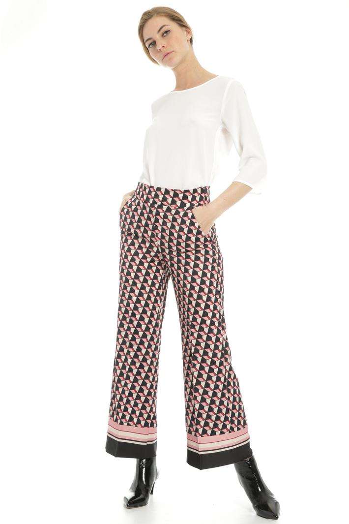 Geometric pattern trousers  Intrend
