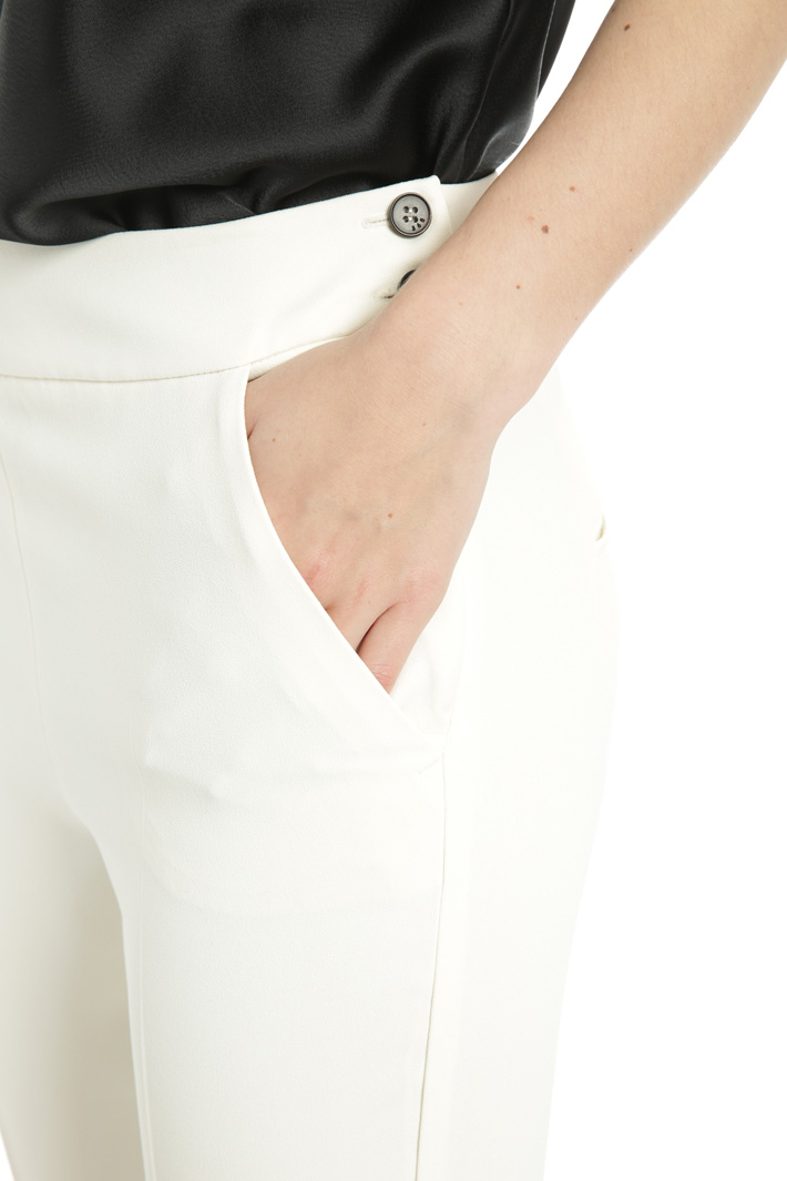 Crepe enver satin trousers Intrend