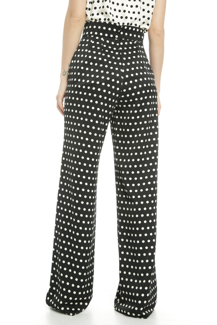 Polka dot palazzo trousers  Intrend