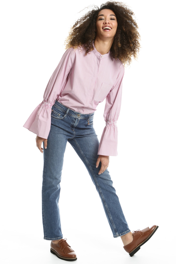 Denim straight-leg trousers Intrend