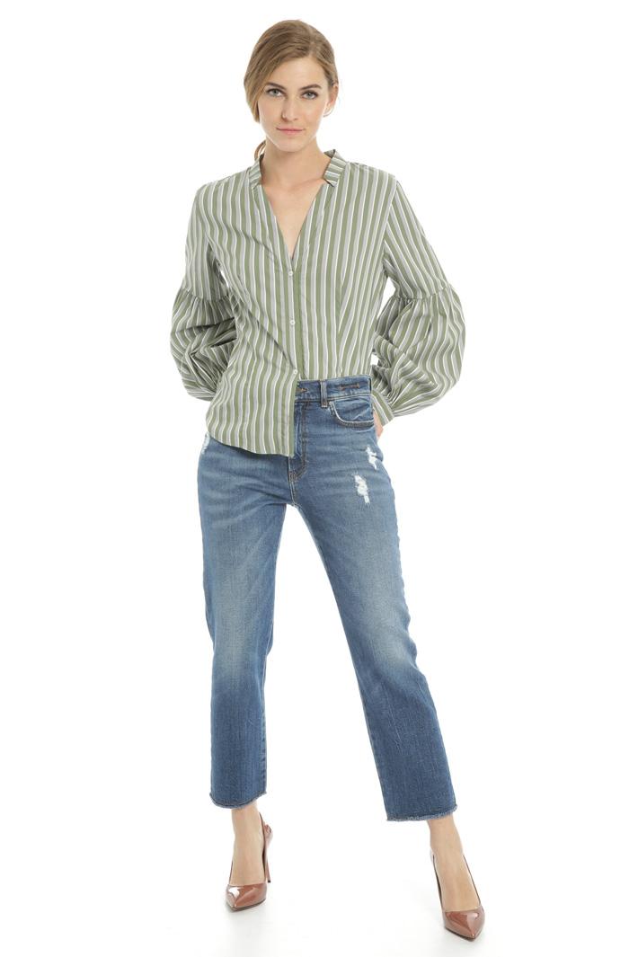 Regular denim trousers  Intrend