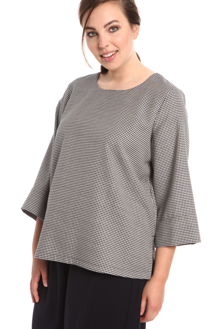 Wool houndstooth tunic Intrend