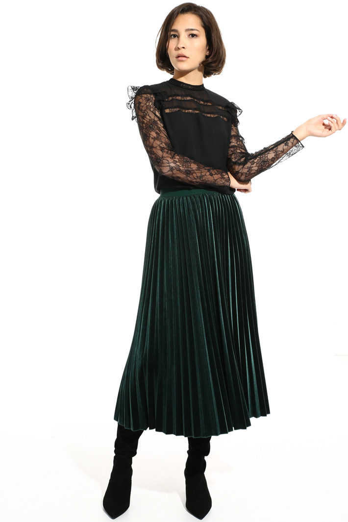 Georgette and lace blouse Intrend