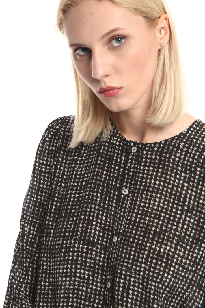 Contrast insert blouse Intrend