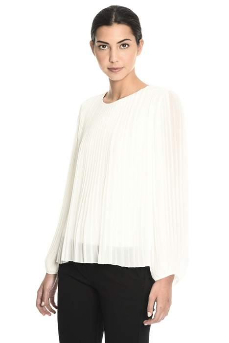 Blusa in georgette plissé Intrend