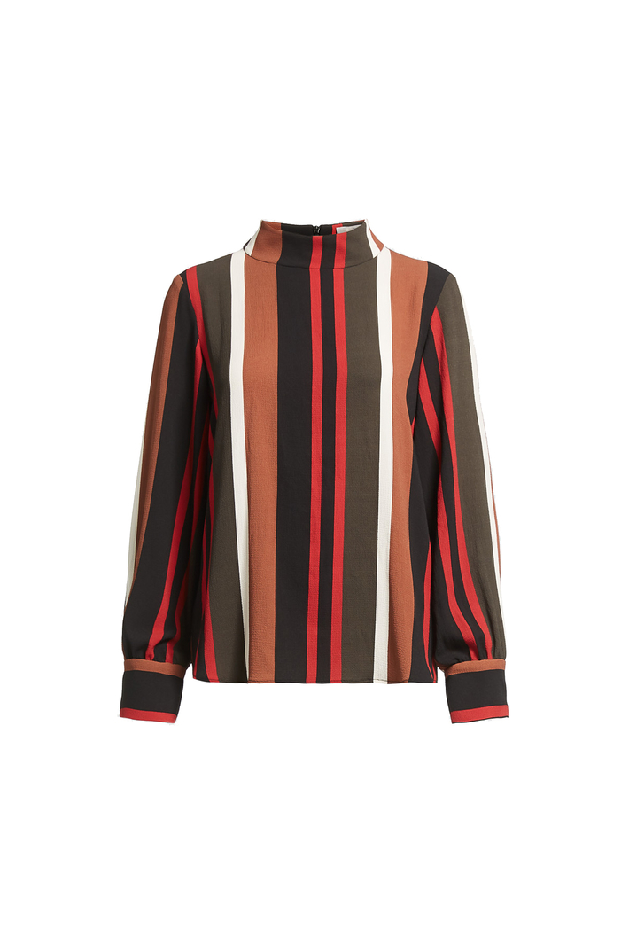 High neck printed blouse Intrend