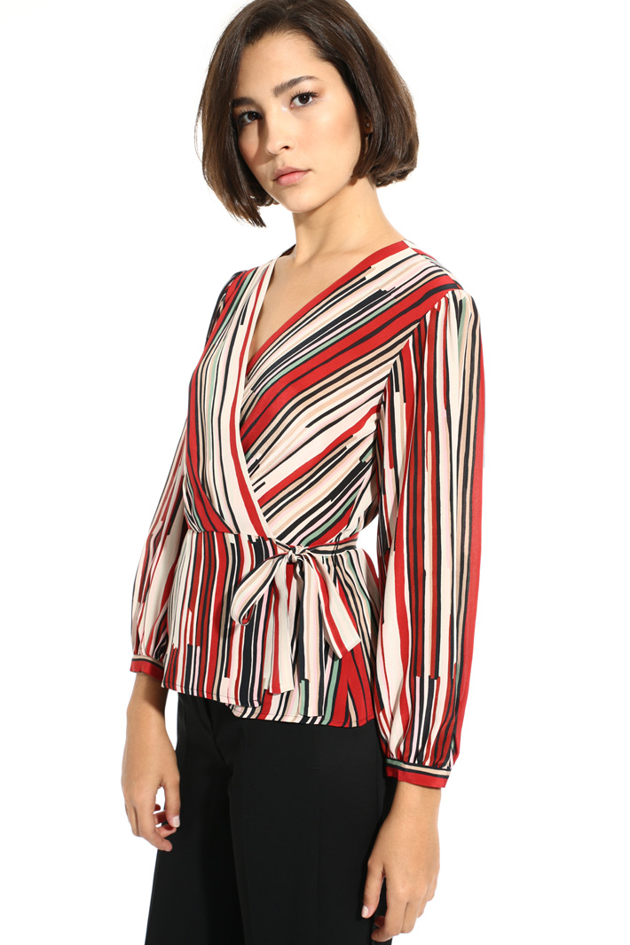Printed wrap blouse Intrend