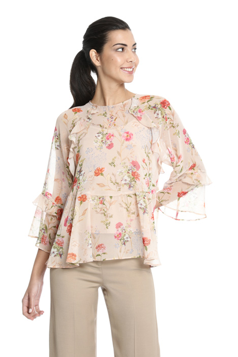 Printed georgette top Intrend