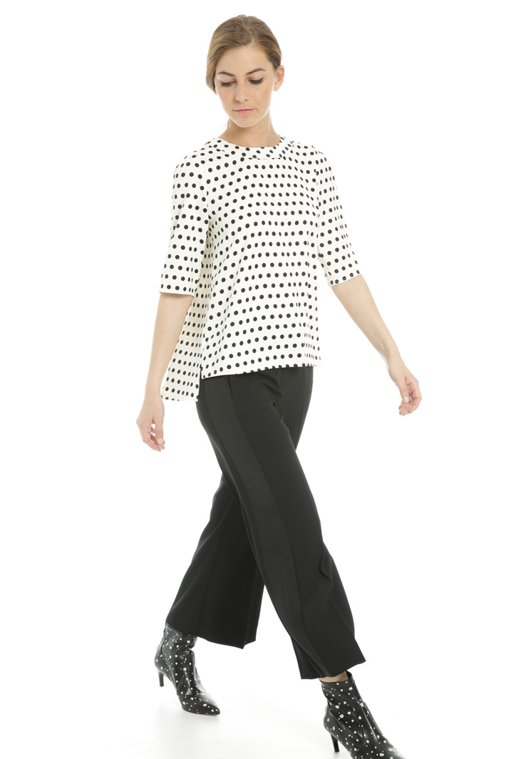 Flared polka dot blouse  Intrend