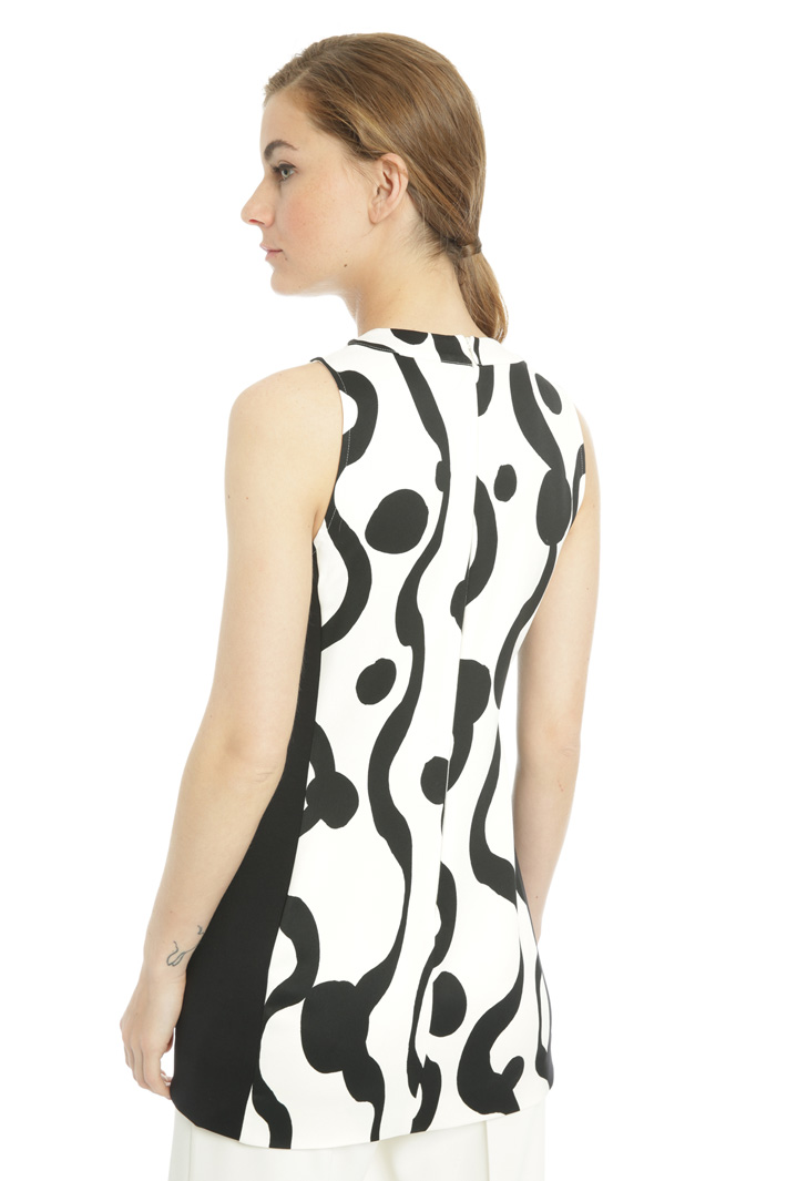 Fitted printed tunic Intrend