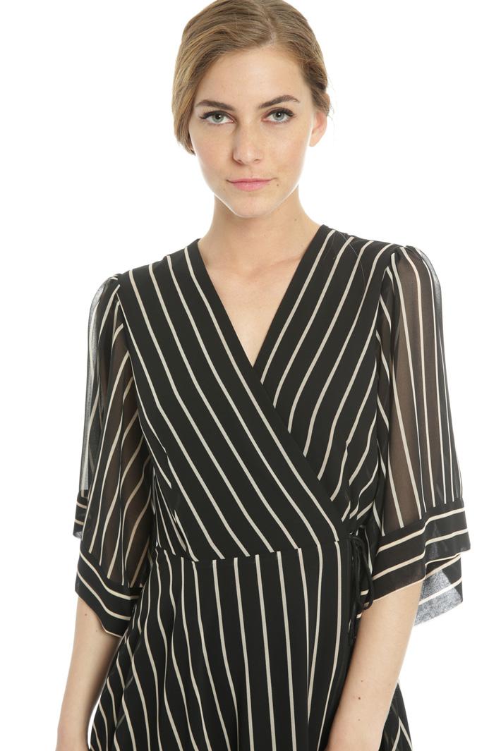 Striped wrap dress Intrend