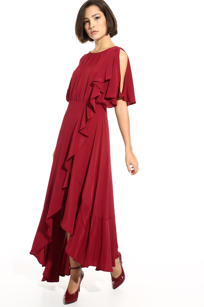 Fluid flounced dress Intrend