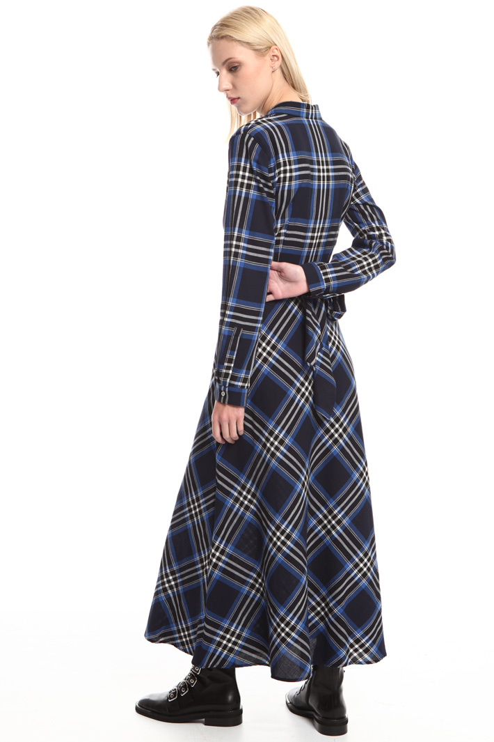 Checked wrap dress Intrend