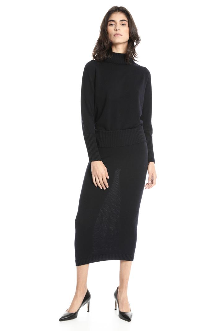 Knee-length skirt in wool Intrend