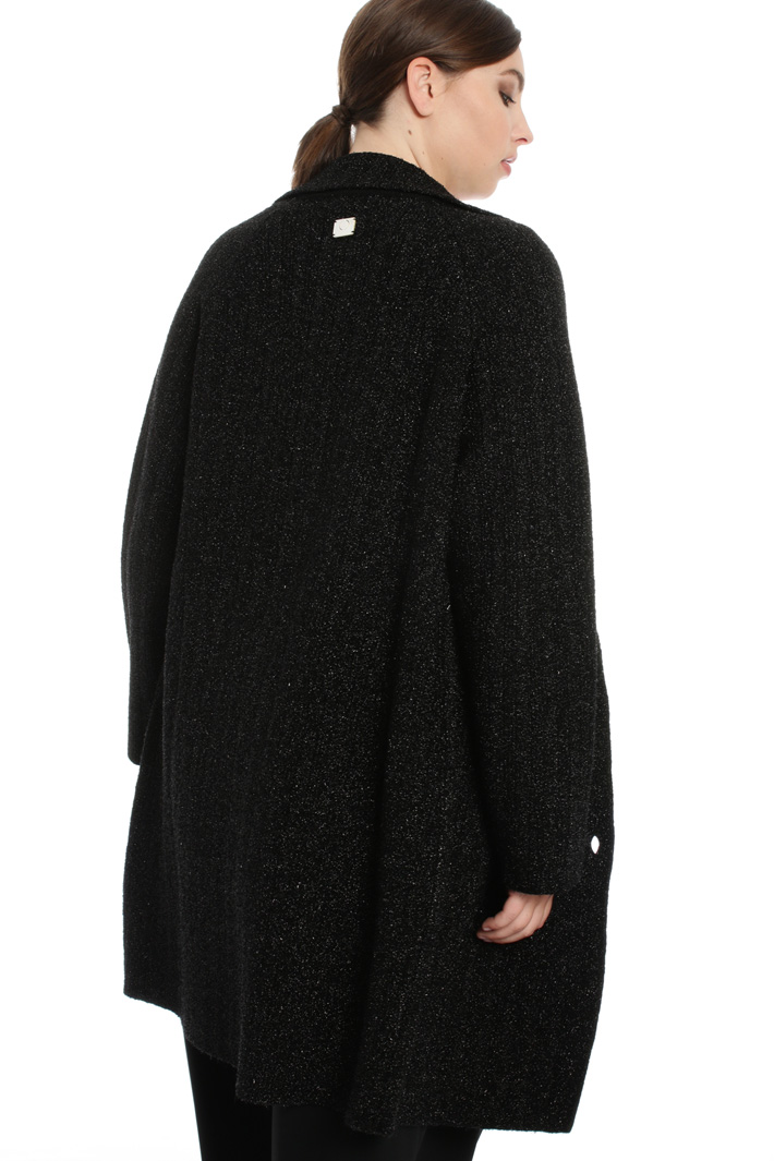 Lurex knit duster coat Intrend