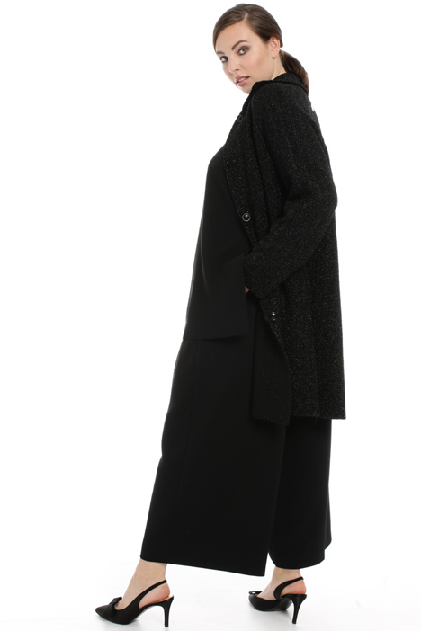 Lurex knit duster coat Intrend