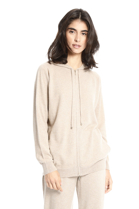 Zipped cashmere cardigan Intrend