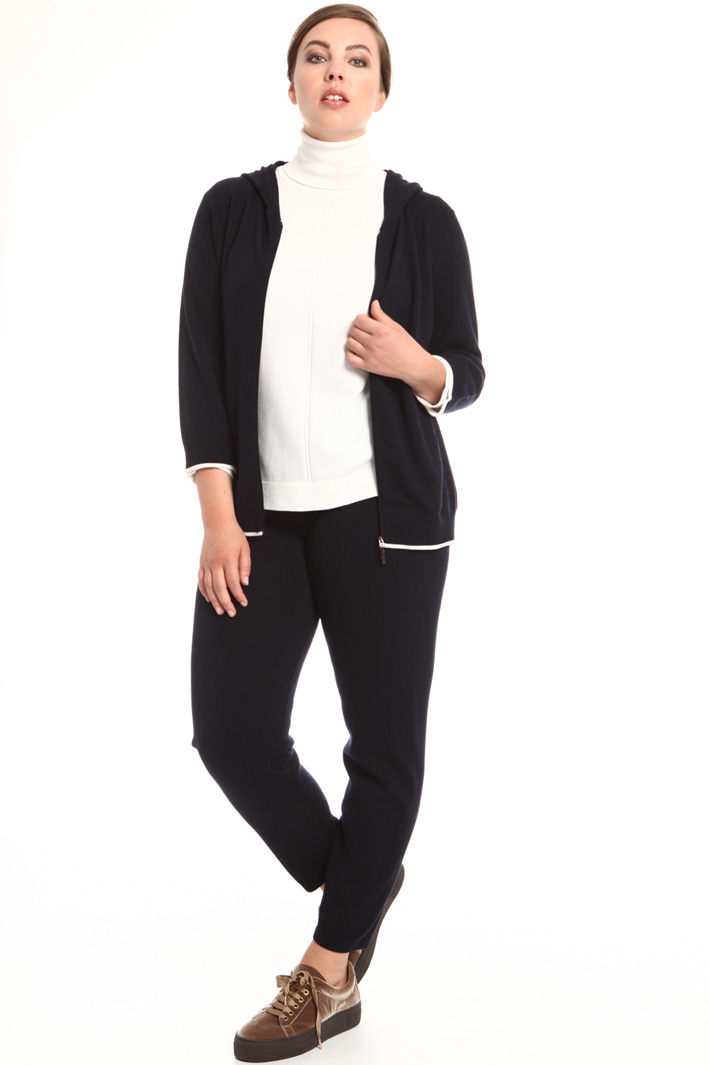 Hooded cardigan with zip Intrend
