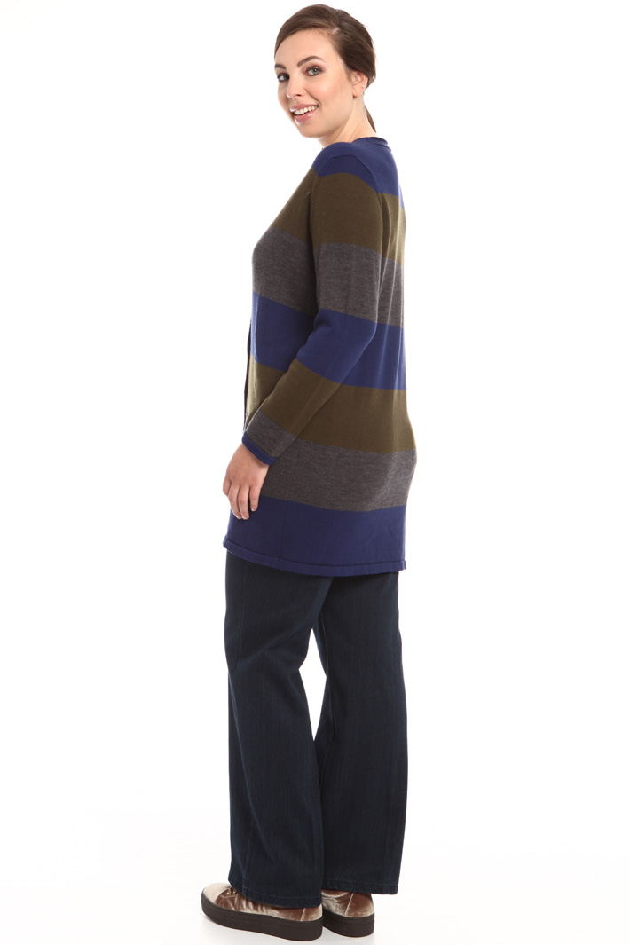 Long cardigan in pure wool Intrend