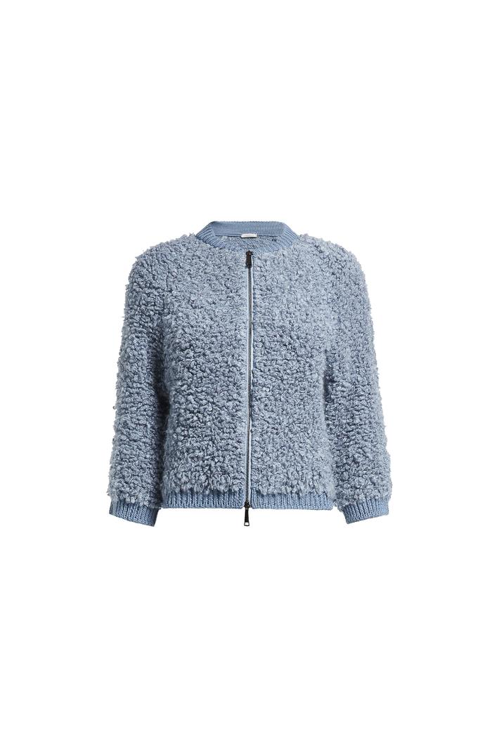 Knit bouclé bomber jacket Intrend