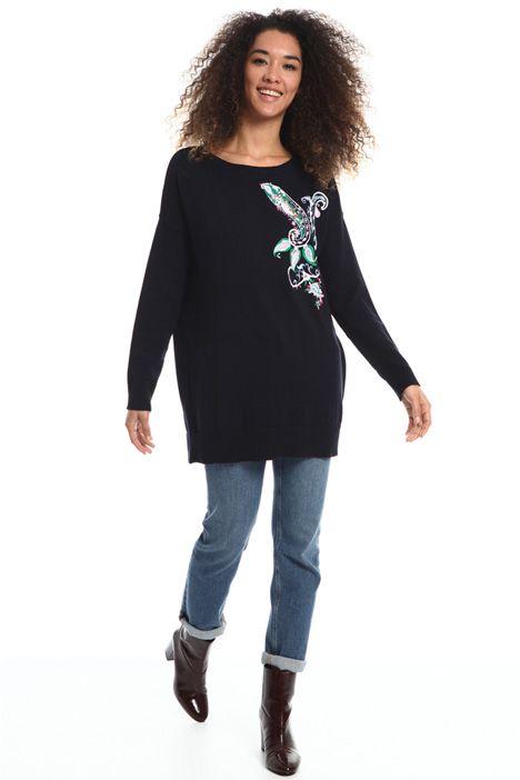 Oversized embroidered sweater Intrend
