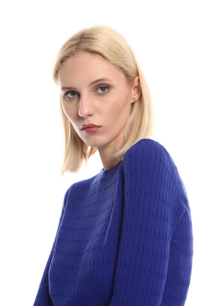 Braid knit sweater Intrend