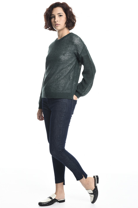 Wool blend mesh sweater Intrend