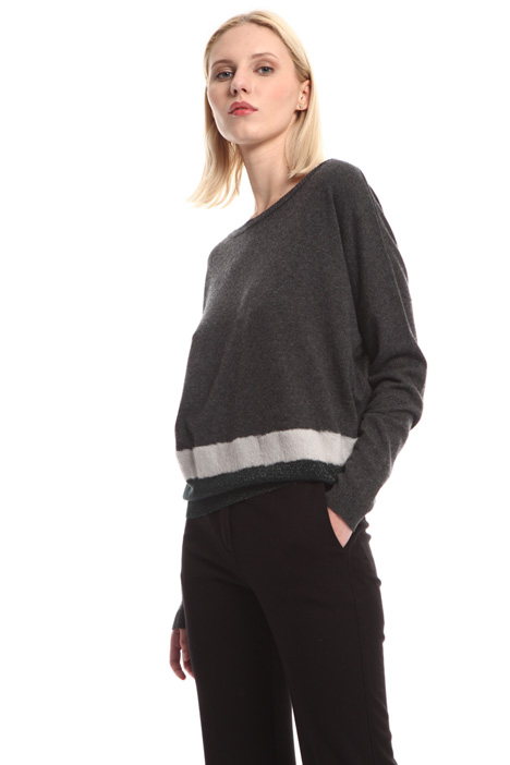 Lurex intarsia sweater Intrend