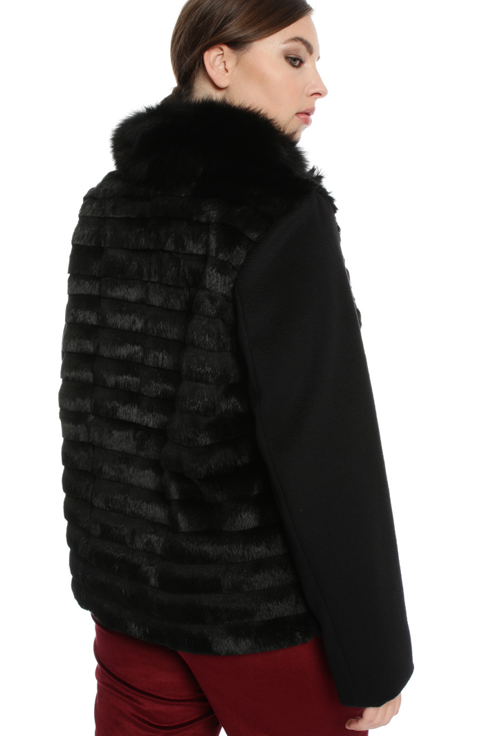Pure wool and lapin jacket Intrend