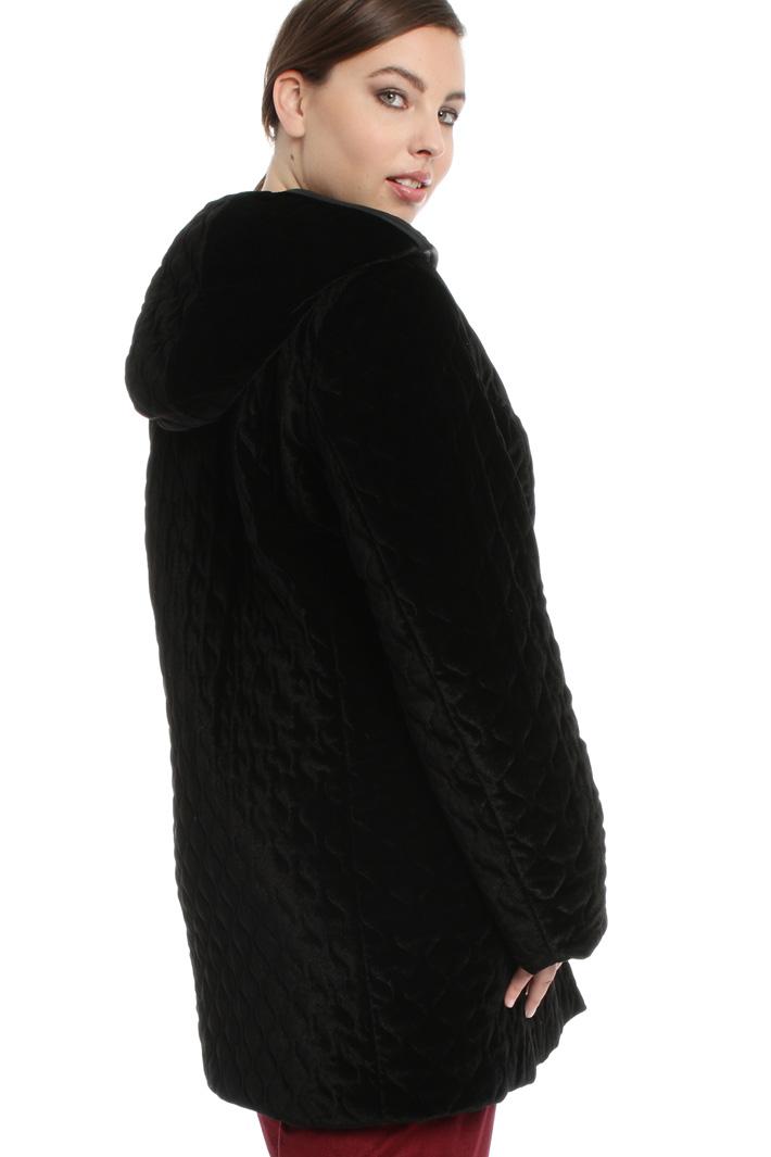 Quilted velvet coat Intrend