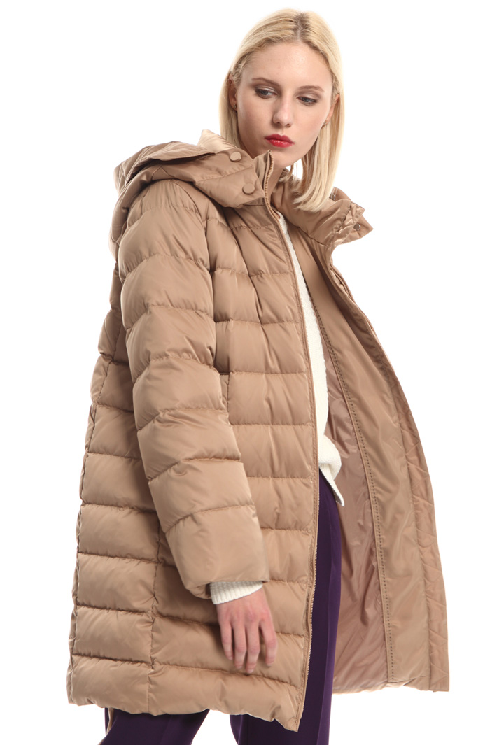 Technical satin down coat Intrend