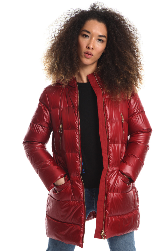 Glossy tech down jacket Intrend