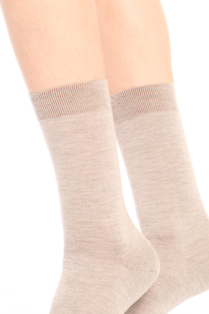 Silk and cashmere socks Intrend