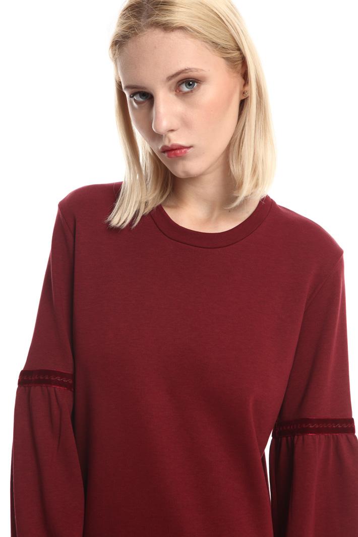 Fleece jersey dress Intrend