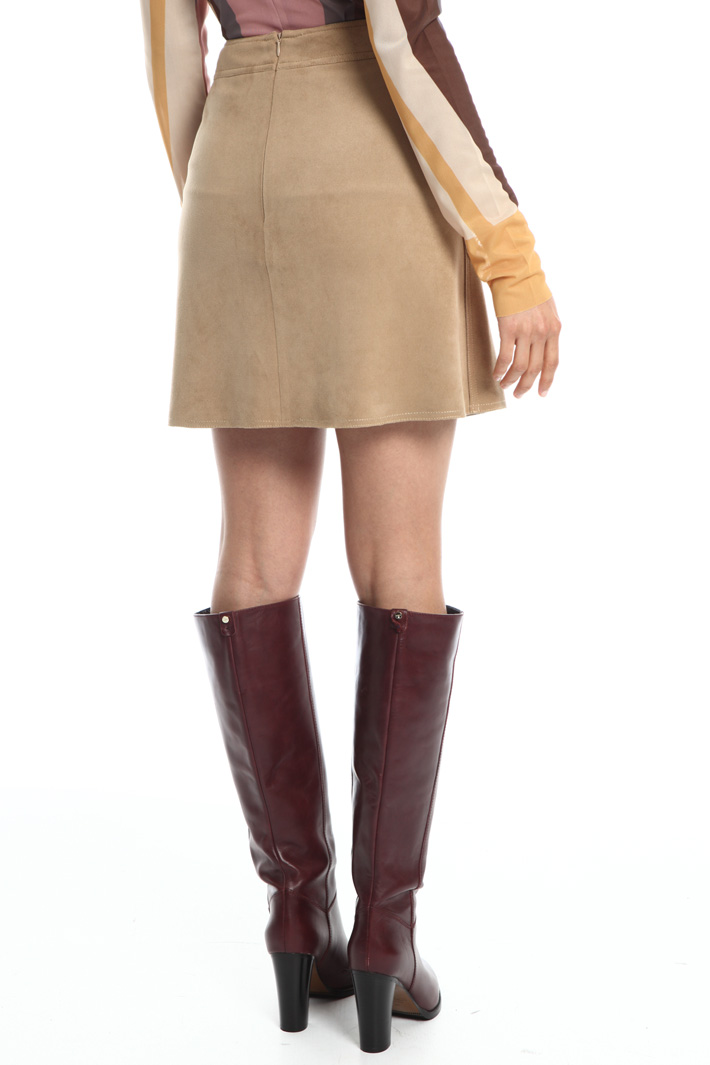 Faux-leather miniskirt Intrend