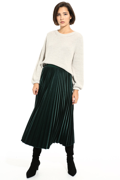 Pleated chenille skirt Intrend