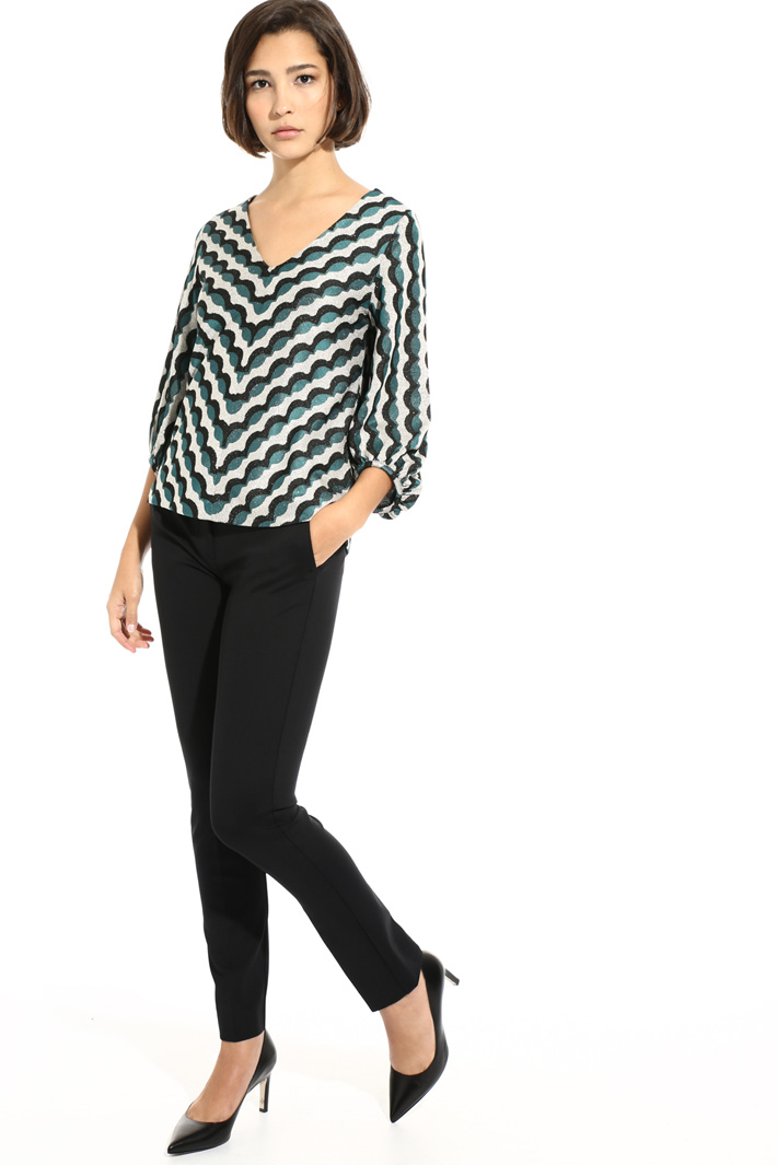 Milano stitch jersey trousers Intrend