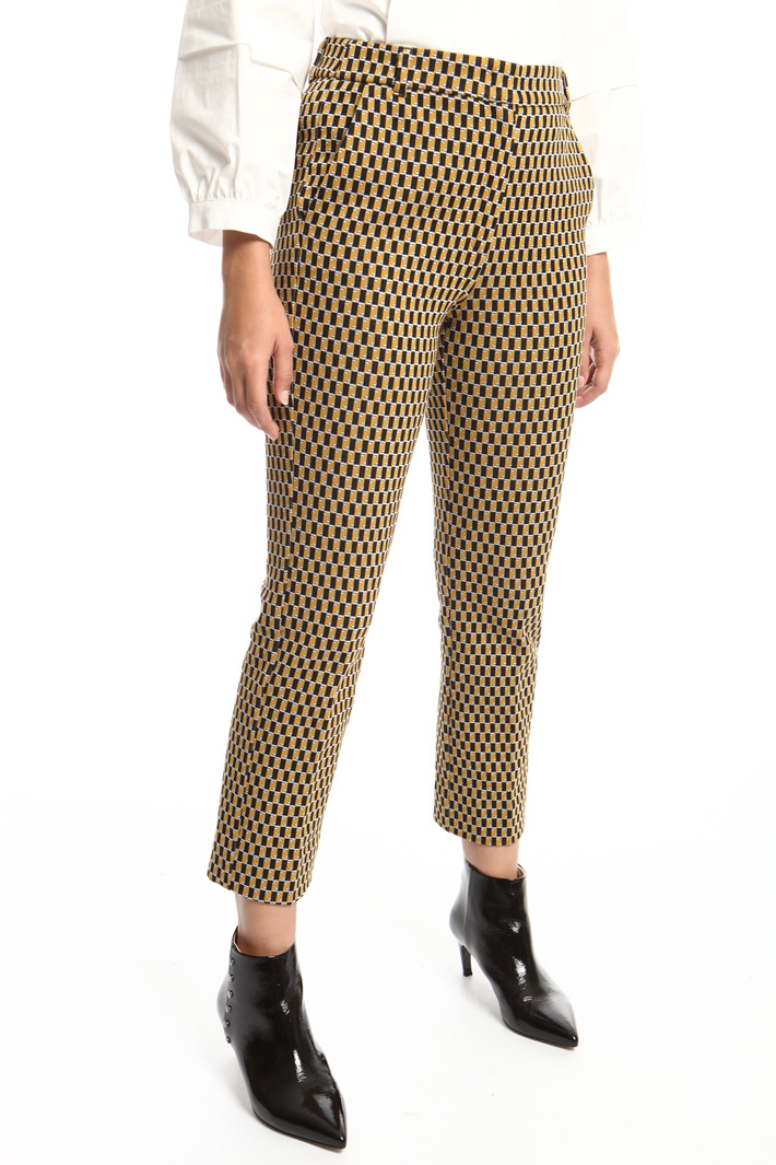 Jacquard jersey trousers Intrend
