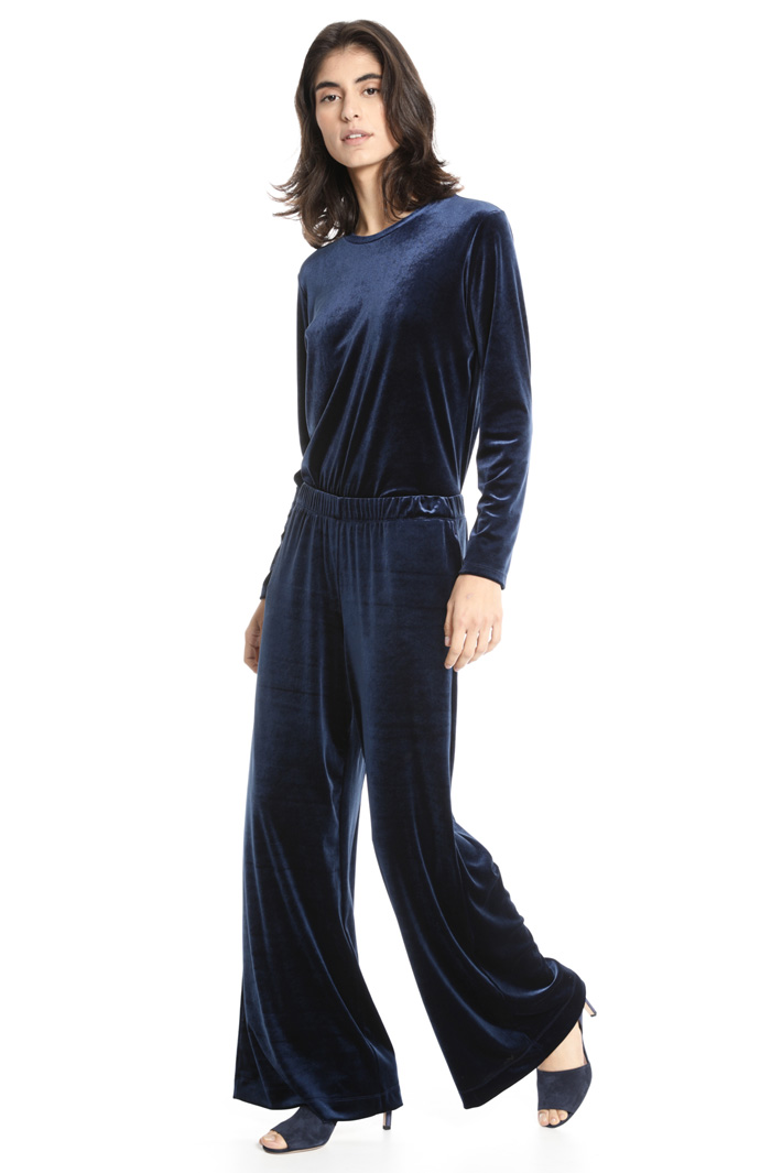 Wide chenille trousers Intrend