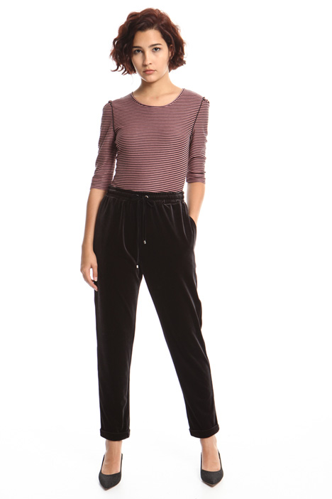 Chenille jogging-style pants Intrend