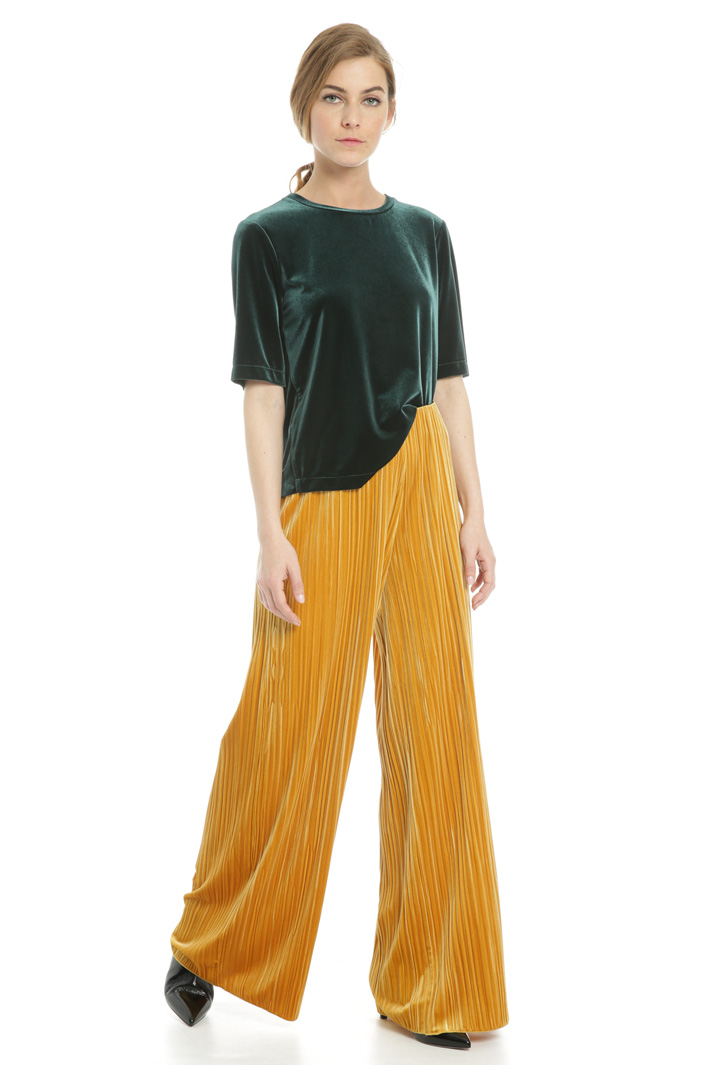 Chenille effect trousers Intrend