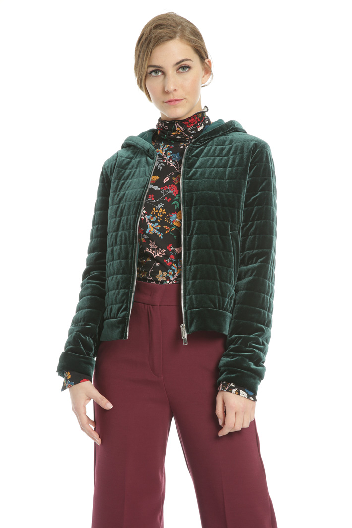 Jersey bomber jacket Intrend