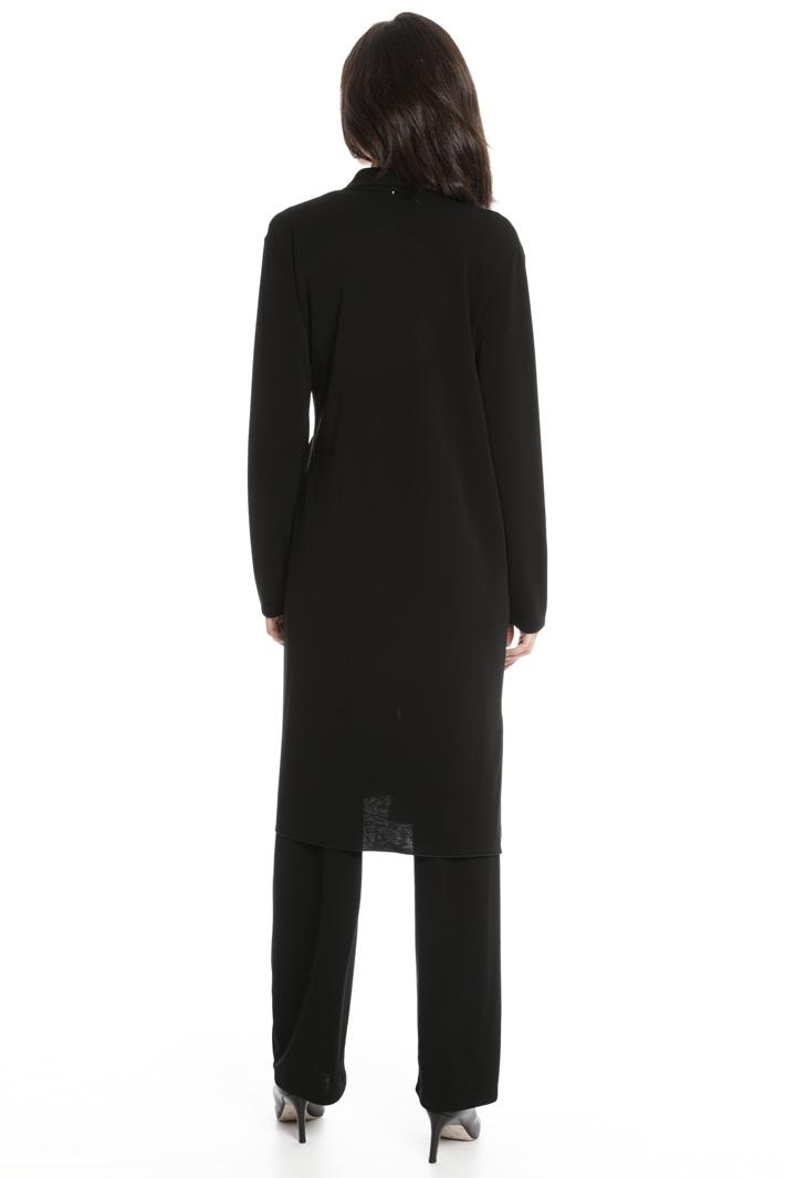 Crepe jersey duster coat Intrend