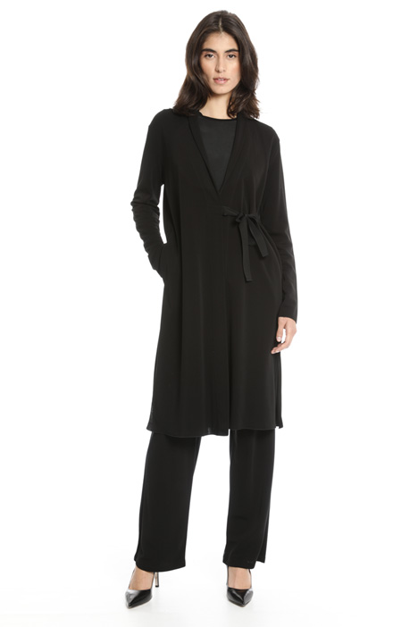 Crepe jersey duster coat Intrend