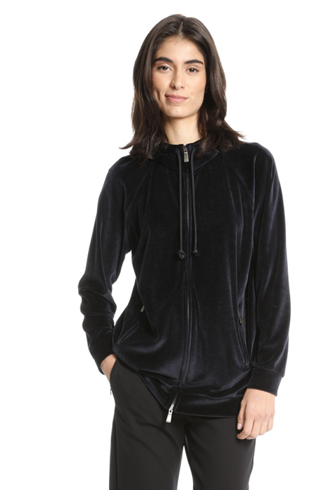 Hooded chenille sweatshirt Intrend