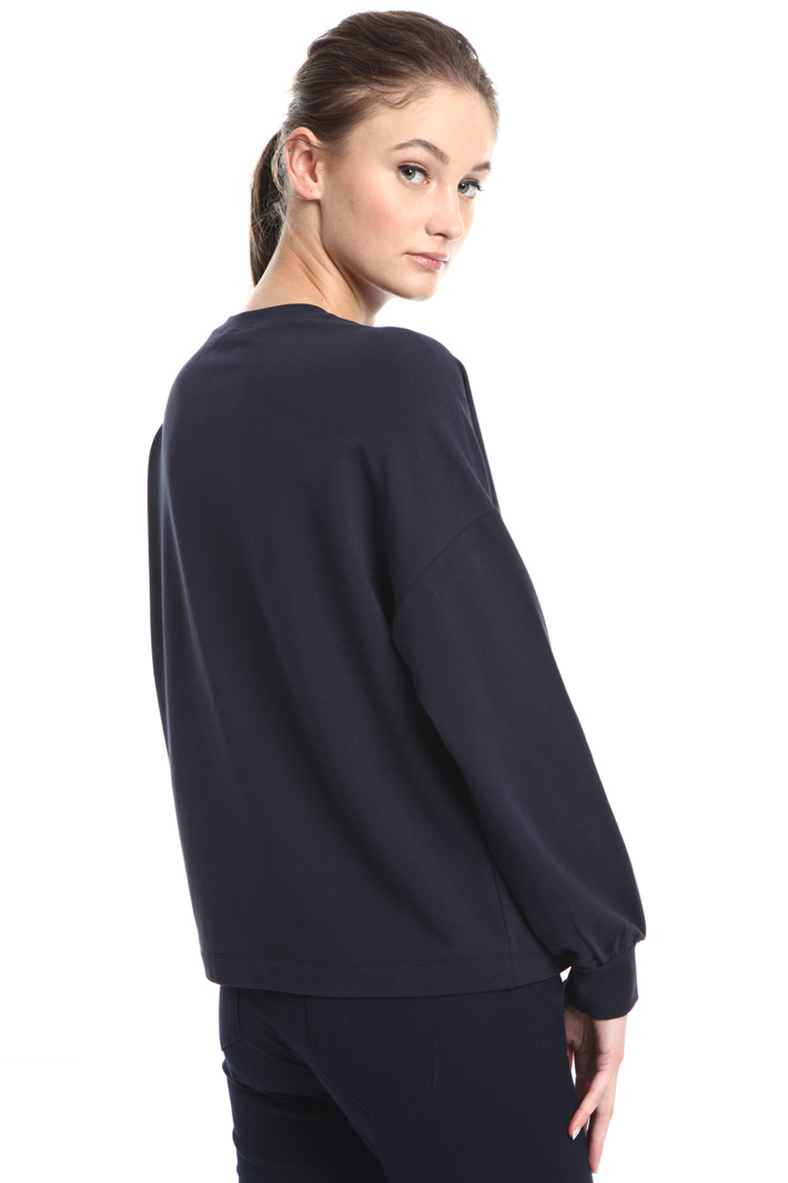 Contrast patch sweater Intrend